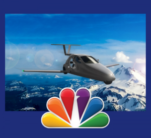 NBC logo with flying Switchblade