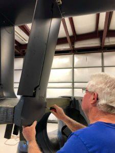 man working on switchblade