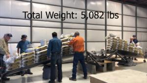 wing strength test image, total weight 5,082 lbs