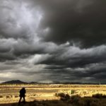 black clouds over Prineville Airport