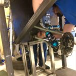 attaching rear suspension on drop test rig